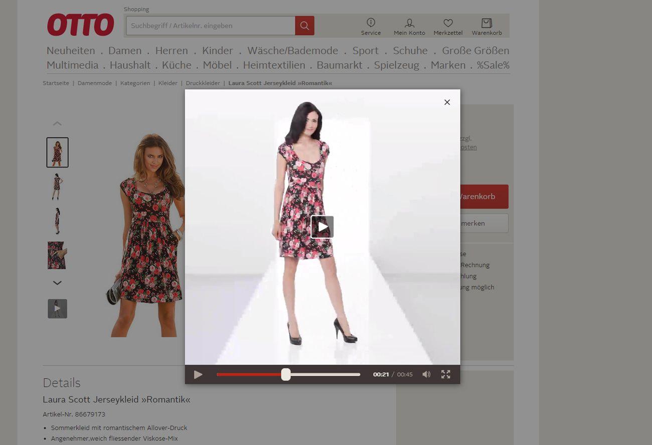 Otto.de: видеоролик с демонстрацией изделия