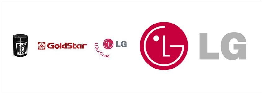 Развитие логотипа LG
